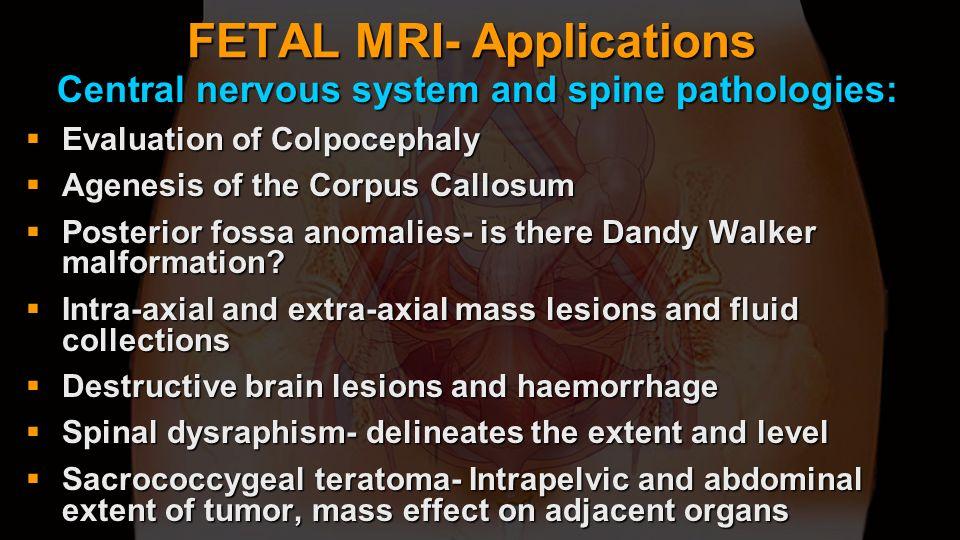 FETAL MRI- Applications