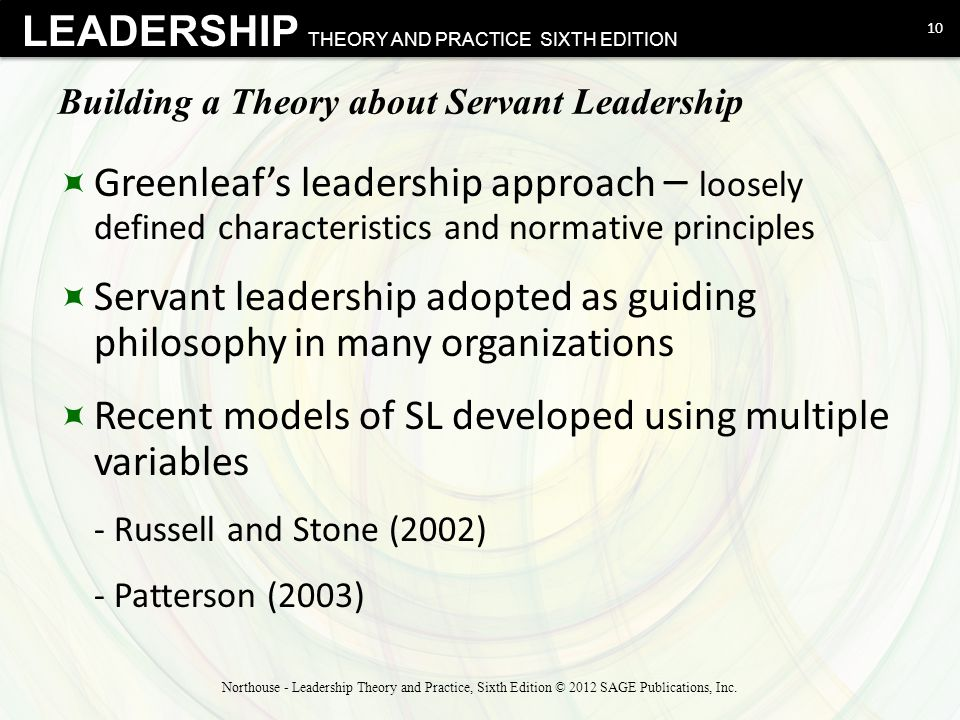 Building a Theory about Servant Leadership