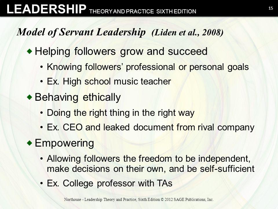 Model of Servant Leadership (Liden et al., 2008)