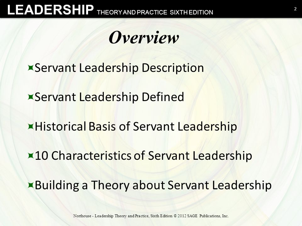 Overview Servant Leadership Description Servant Leadership Defined