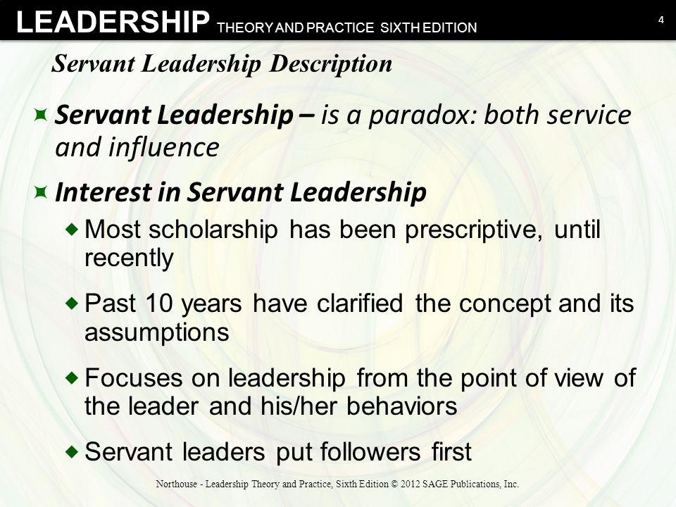Servant Leadership Description