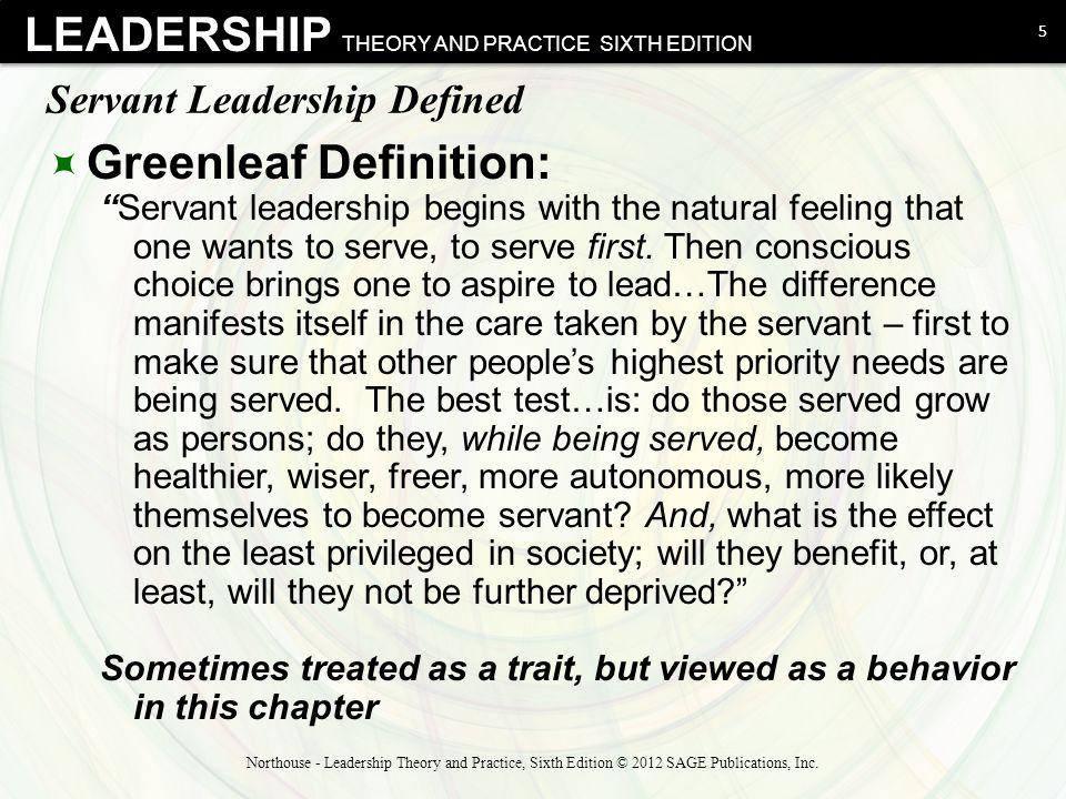 Servant Leadership Defined