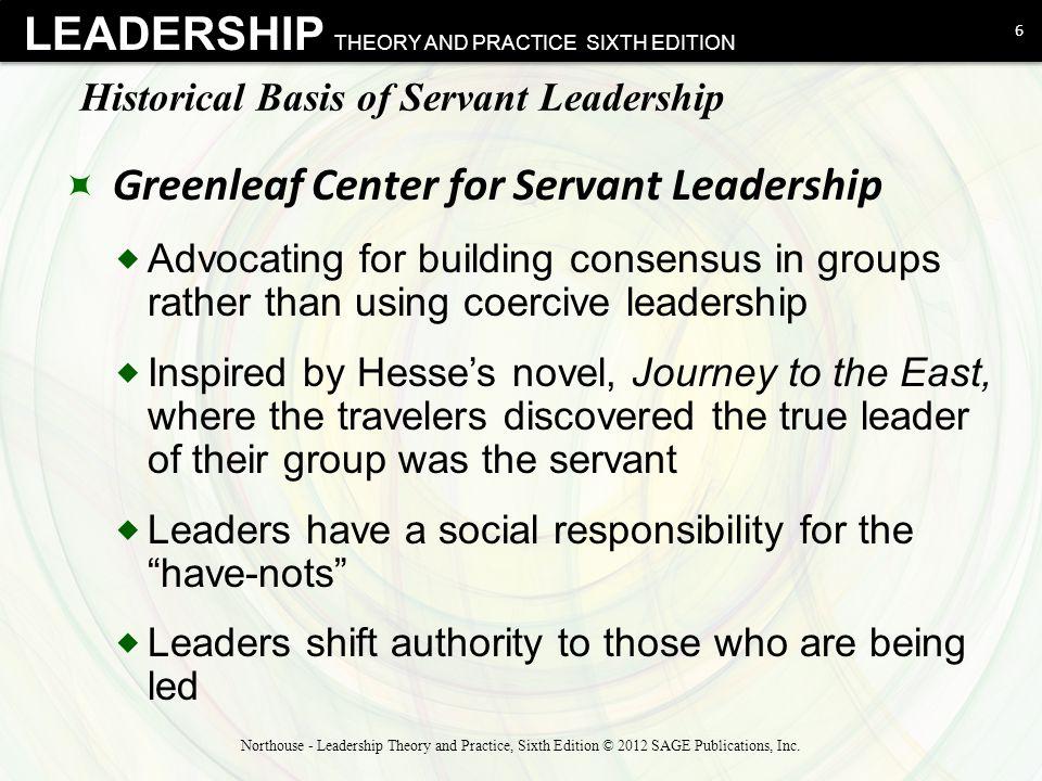 Historical Basis of Servant Leadership