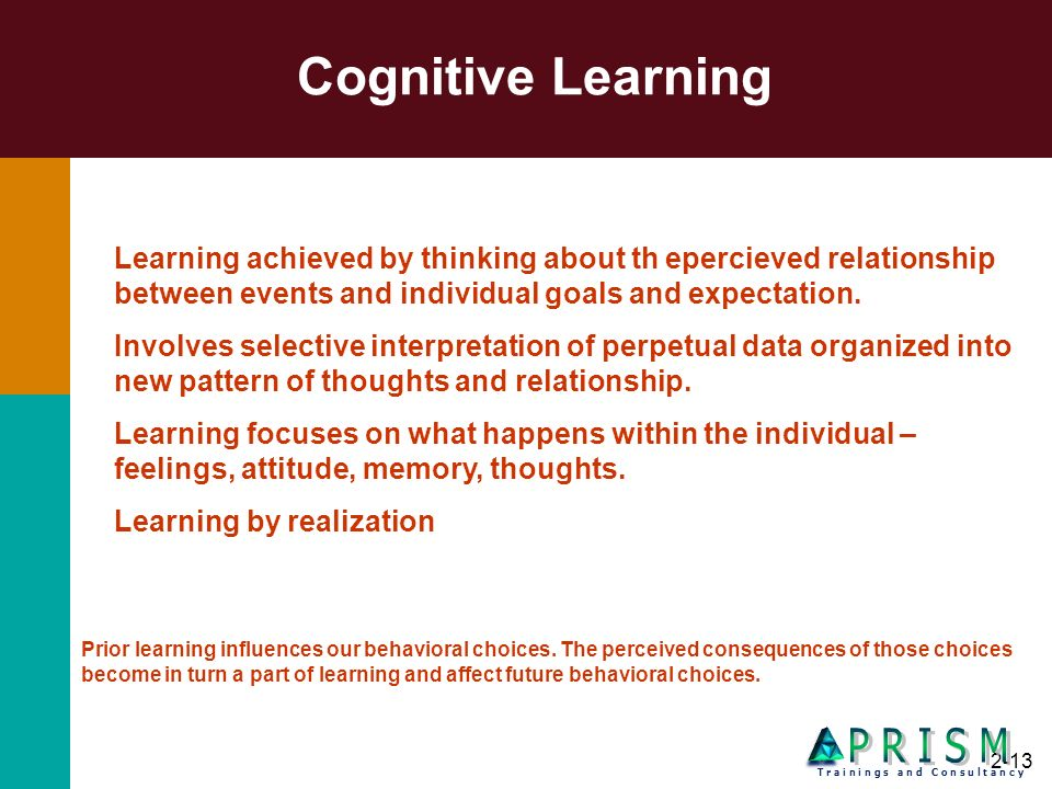 Cognitive Learning P R I S M