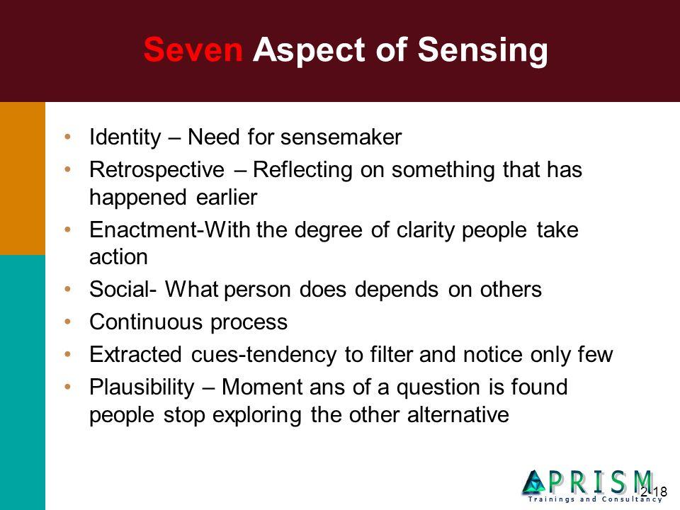 Seven Aspect of Sensing