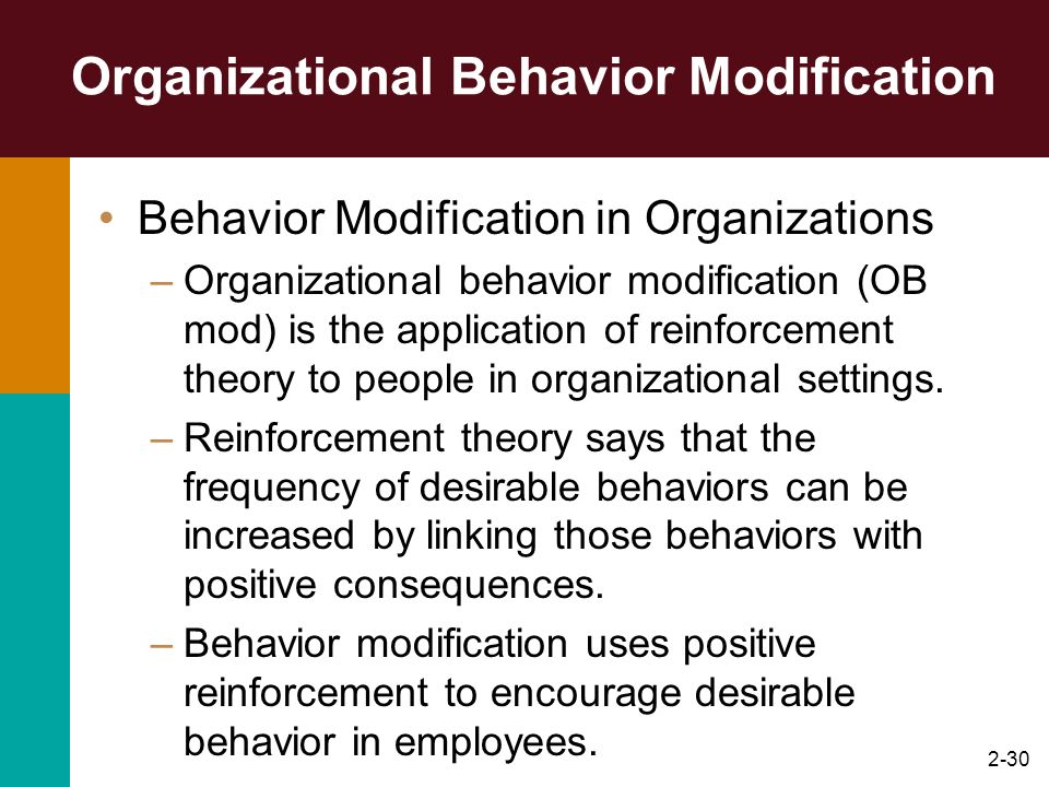 Organizational Behavior Modification