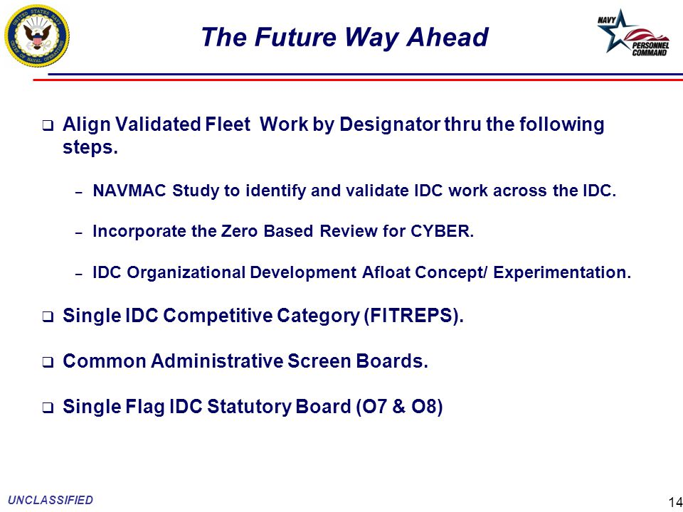 The Future Way Ahead Align Validated Fleet Work by Designator thru the following steps.