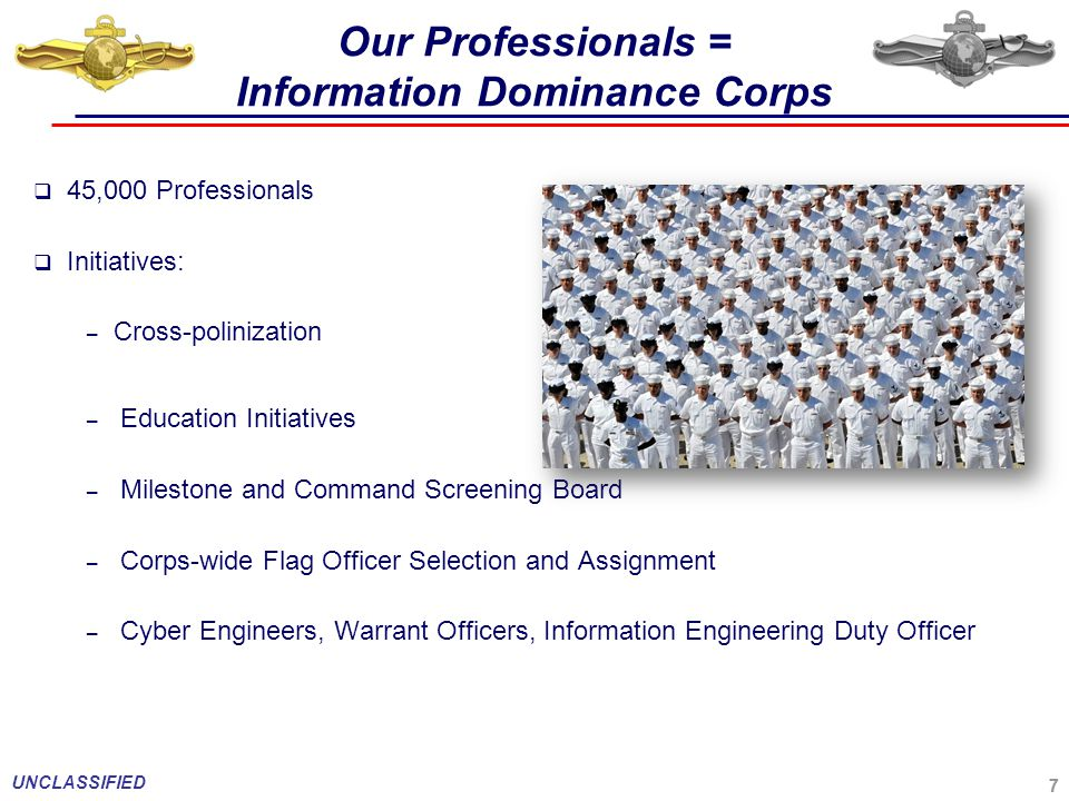 Our Professionals = Information Dominance Corps