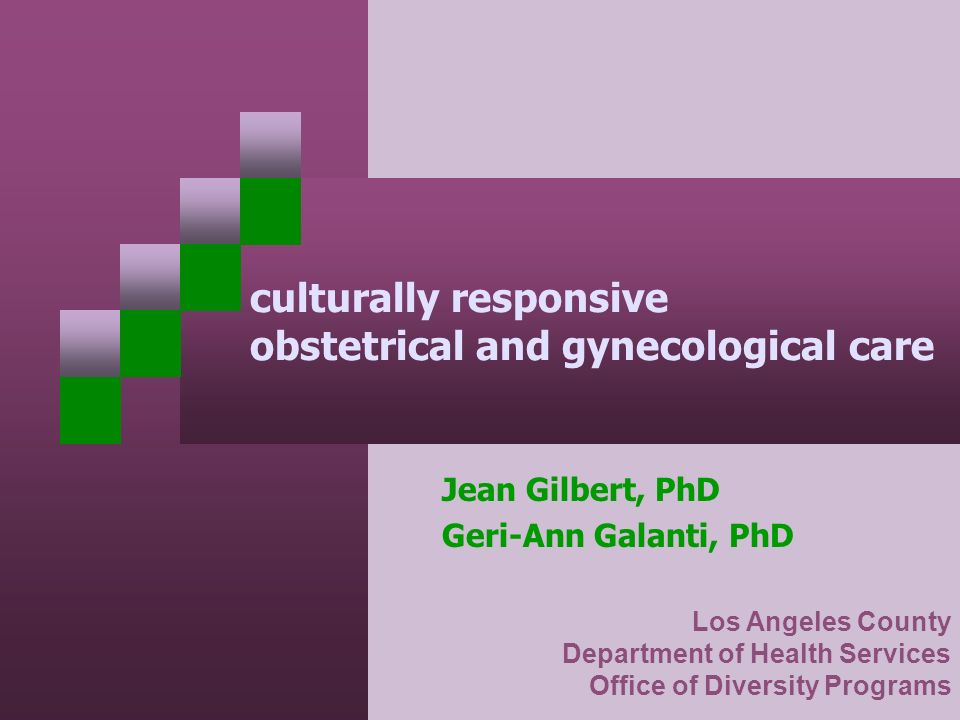 culturally responsive obstetrical and gynecological care