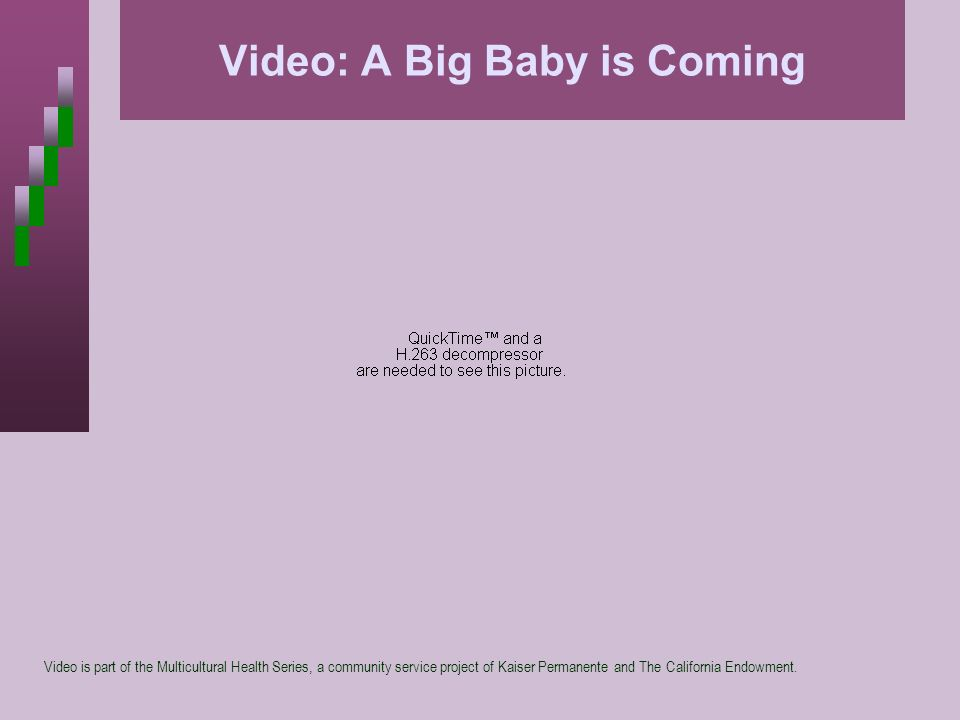 Video: A Big Baby is Coming