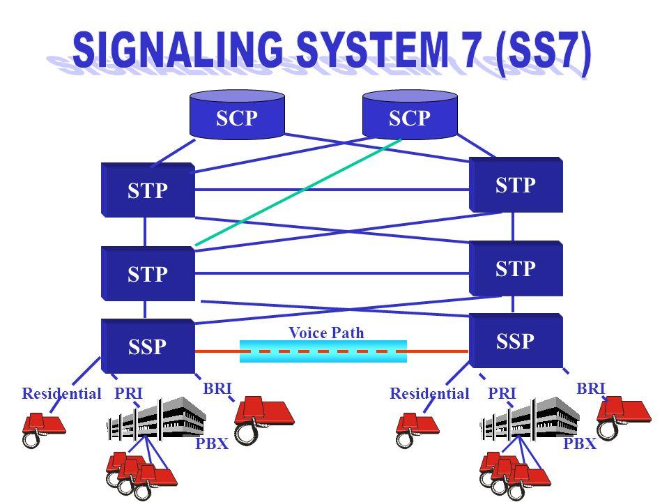 SIGNALING SYSTEM 7 (SS7) SCP SCP STP STP STP STP SSP SSP Voice Path