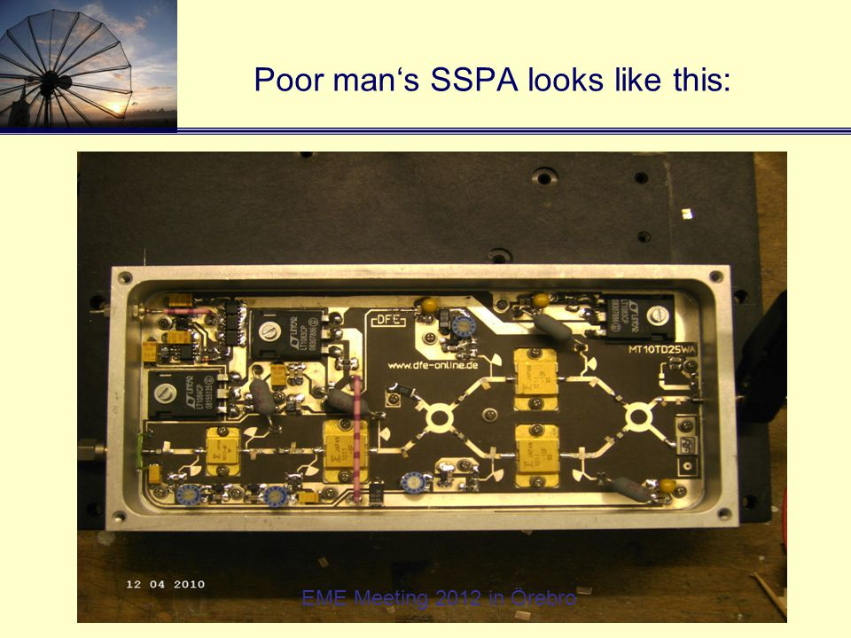 Poor man's SSPA looks like this: