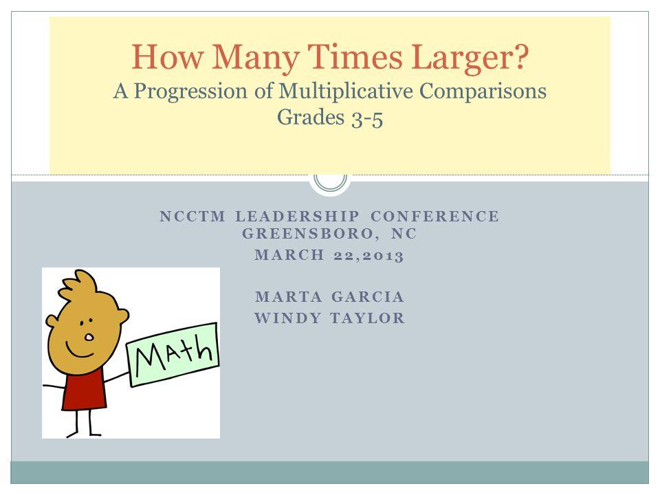 NCCTM Leadership Conference Greensboro, NC
