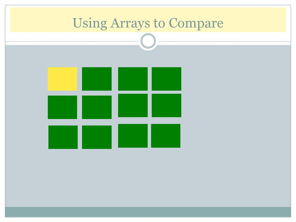 Using Arrays to Compare