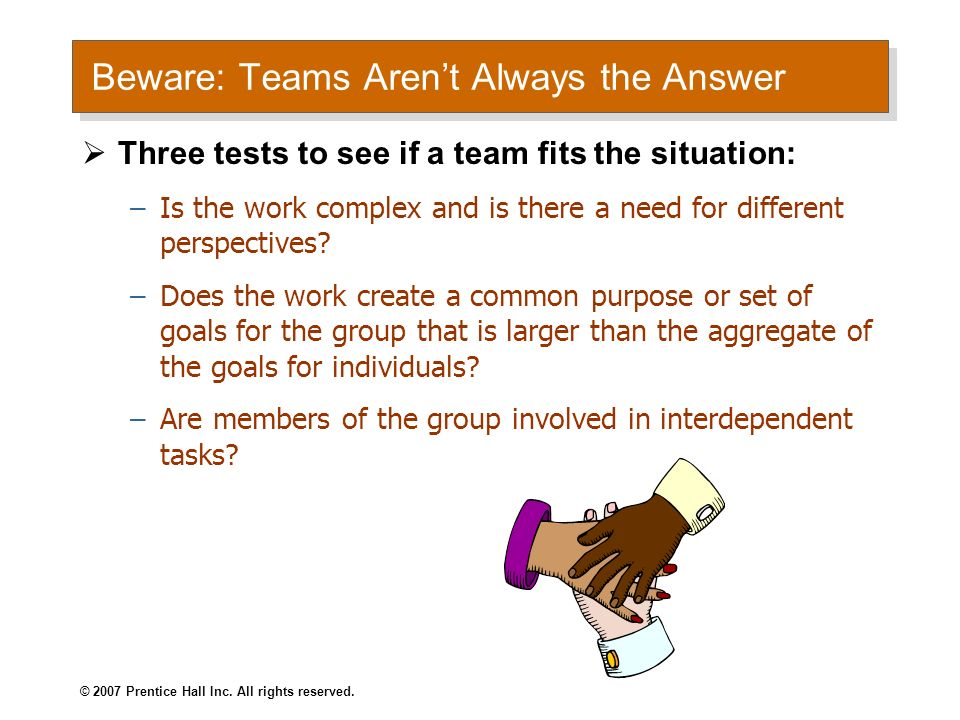 Beware: Teams Aren't Always the Answer