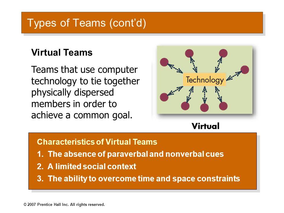 Types of Teams (cont'd)