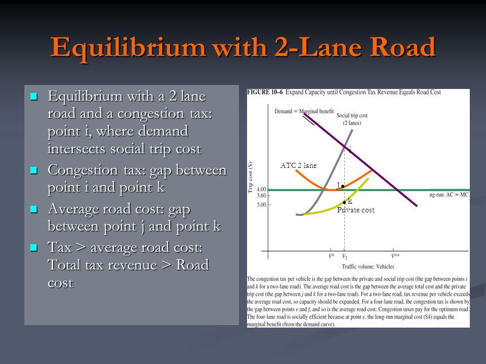 Equilibrium with 2-Lane Road