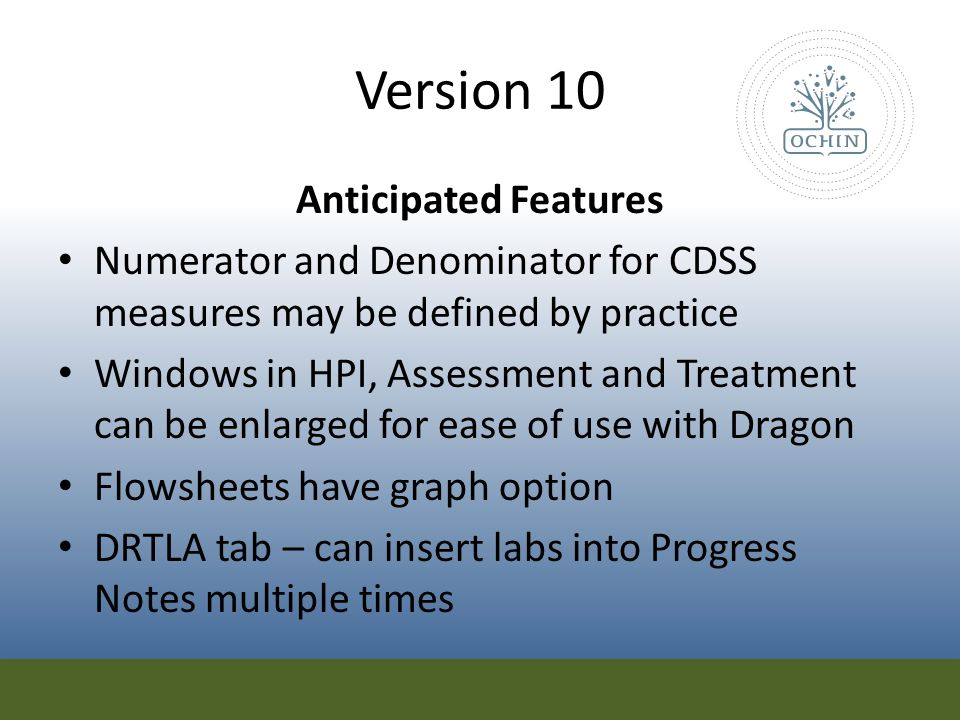 Version 10 Anticipated Features