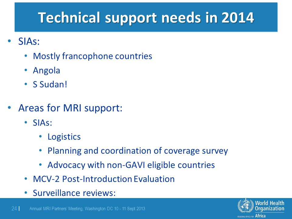 Technical support needs in 2014