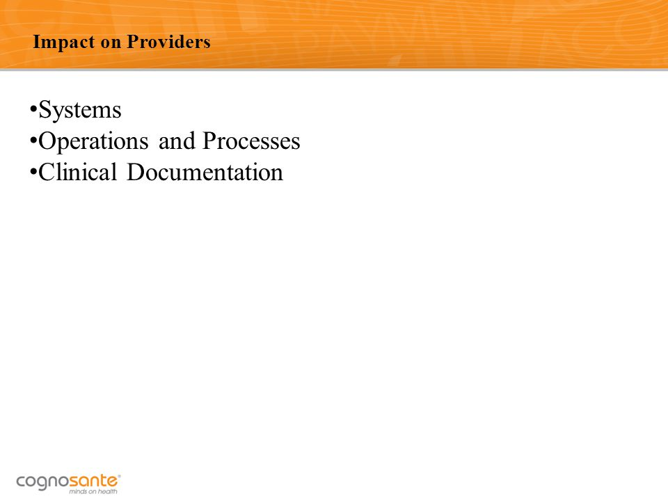 Operations and Processes Clinical Documentation