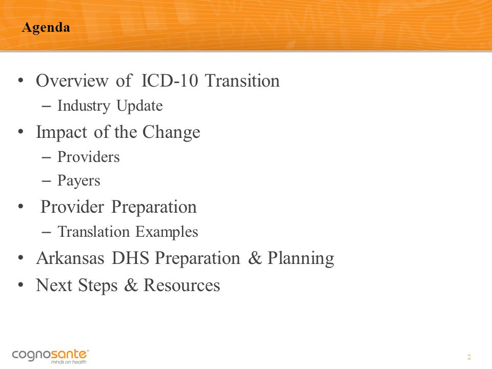 Overview of ICD-10 Transition Impact of the Change