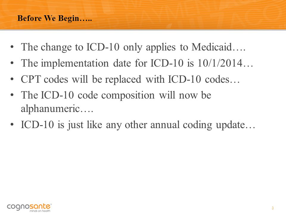 The change to ICD-10 only applies to Medicaid….