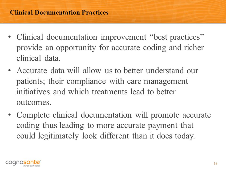 Clinical Documentation Practices