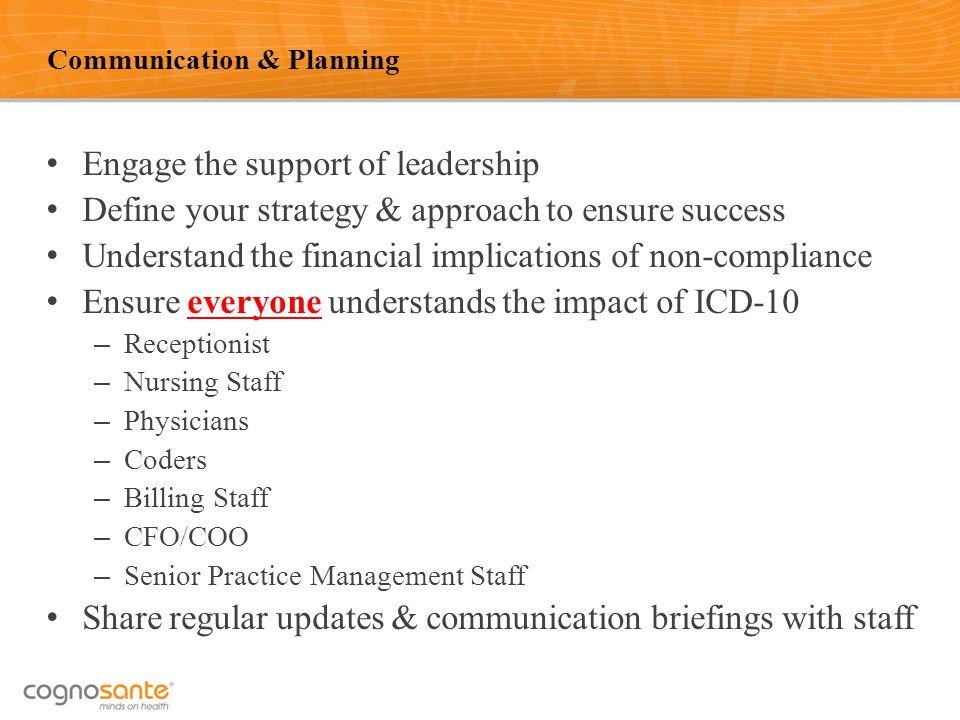 Communication & Planning
