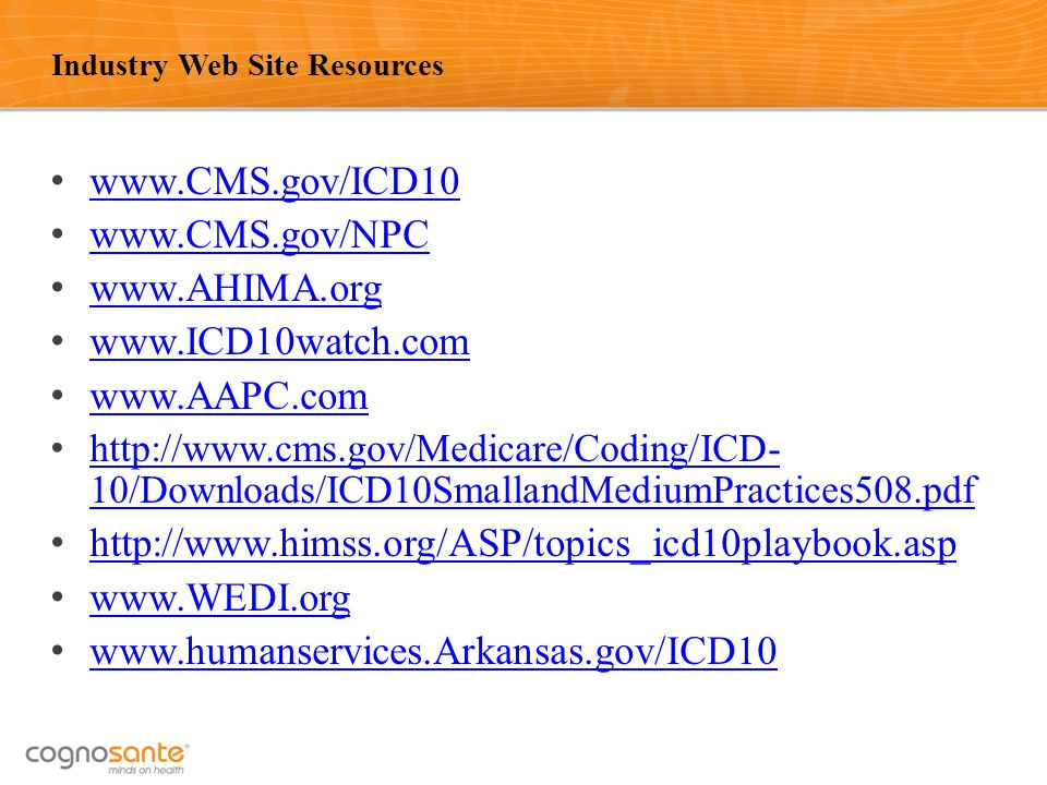 Industry Web Site Resources