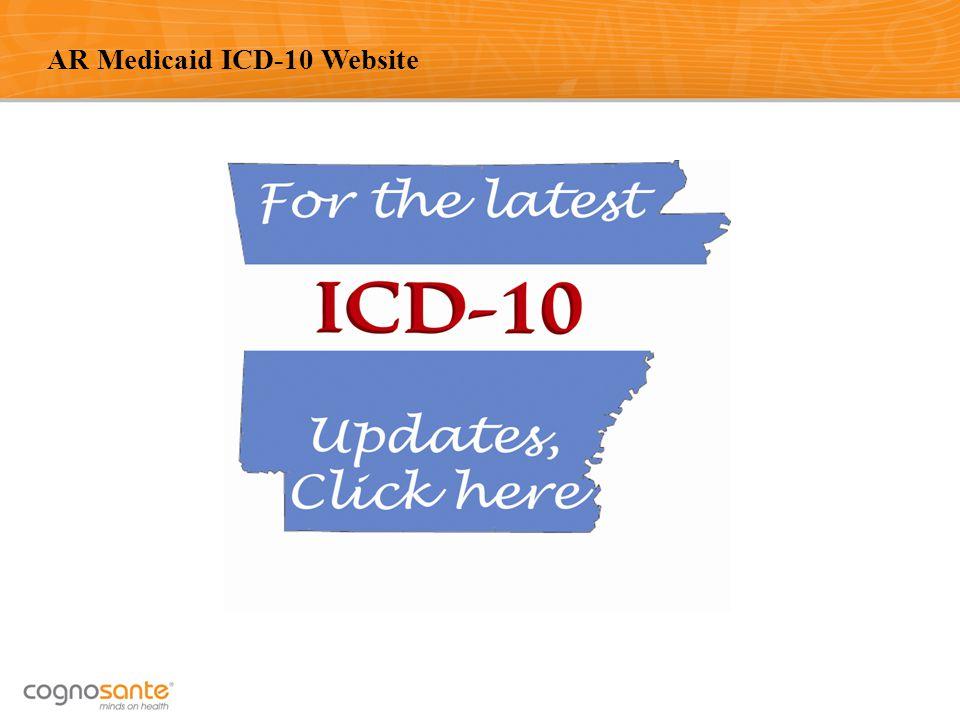 AR Medicaid ICD-10 Website