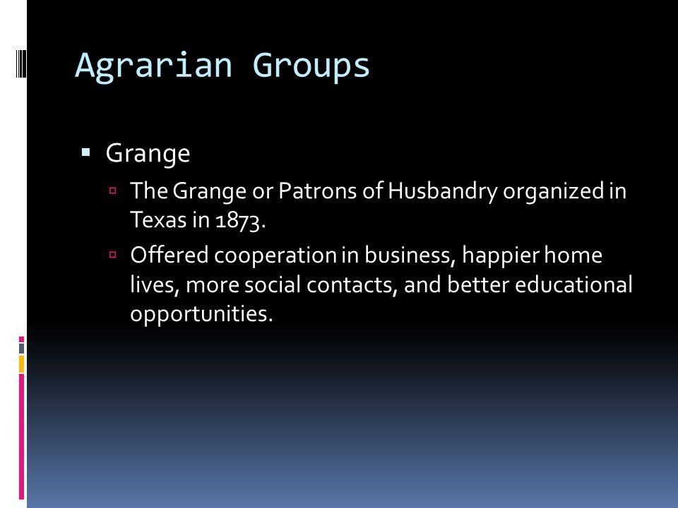Agrarian Groups Grange