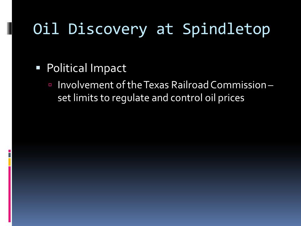 Oil Discovery at Spindletop