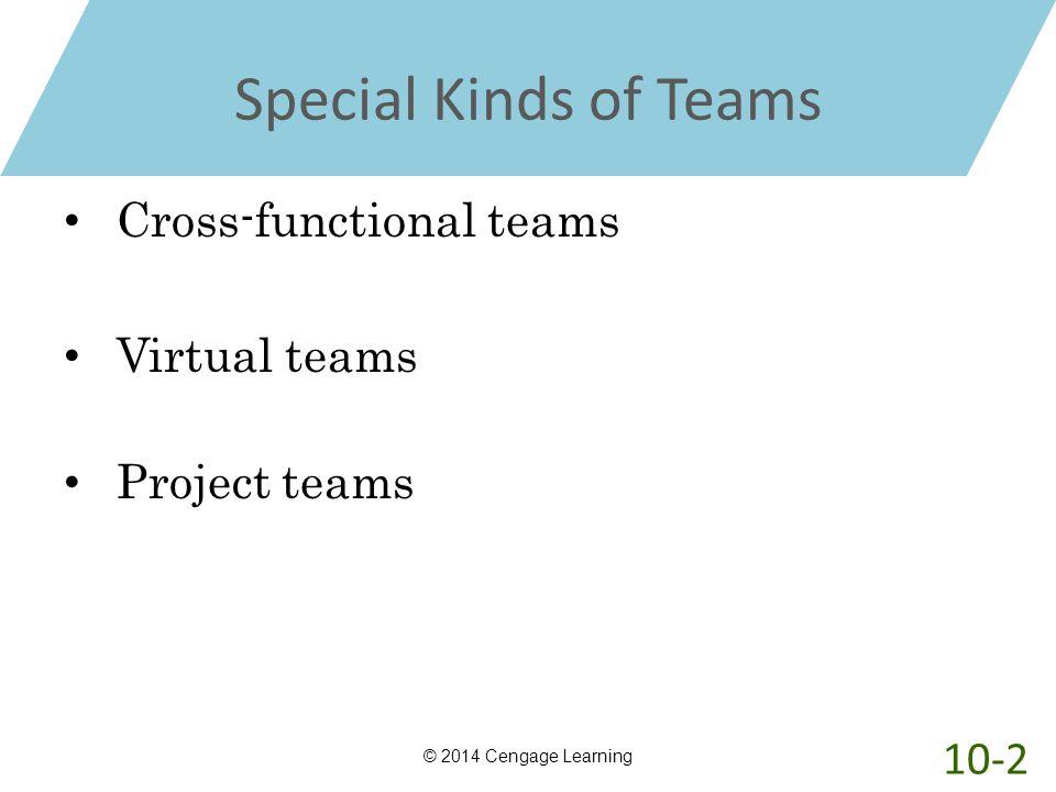 Special Kinds of Teams Cross-functional teams Virtual teams