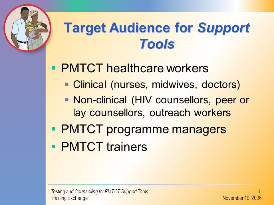 Target Audience for Support Tools