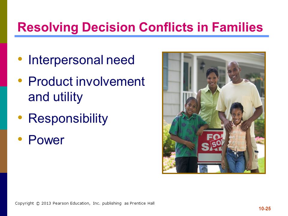 Resolving Decision Conflicts in Families