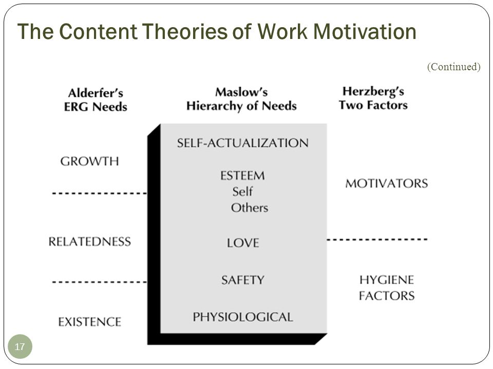 The Content Theories of Work Motivation