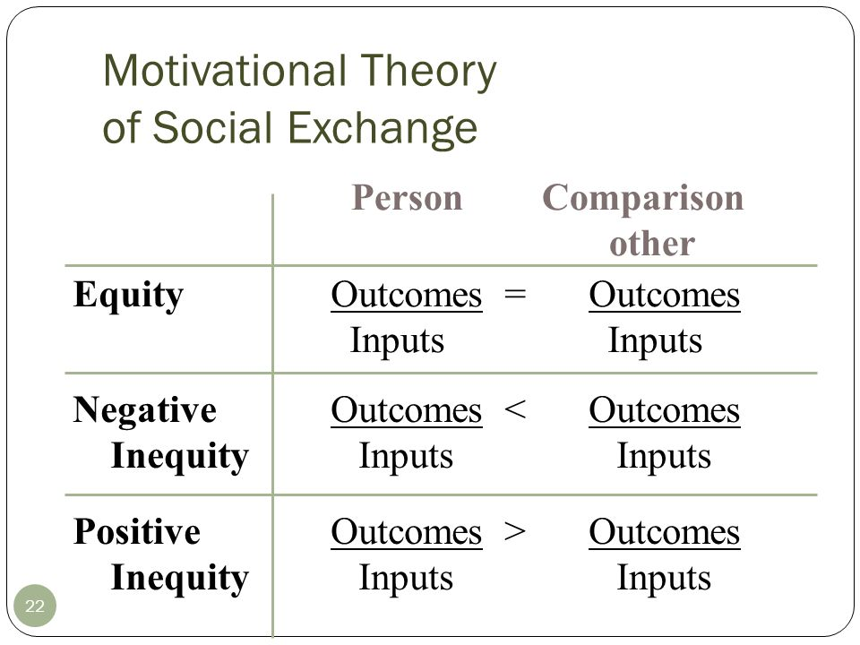 Motivational Theory of Social Exchange