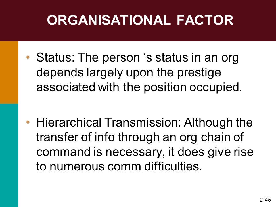 ORGANISATIONAL FACTOR