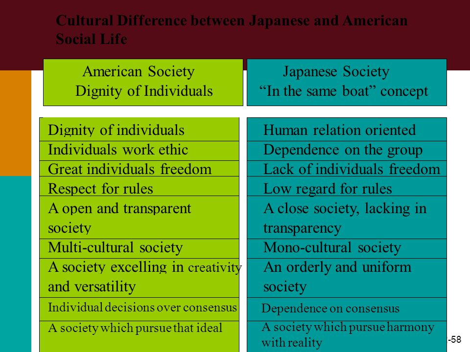 Cultural Difference between Japanese and American Social Life