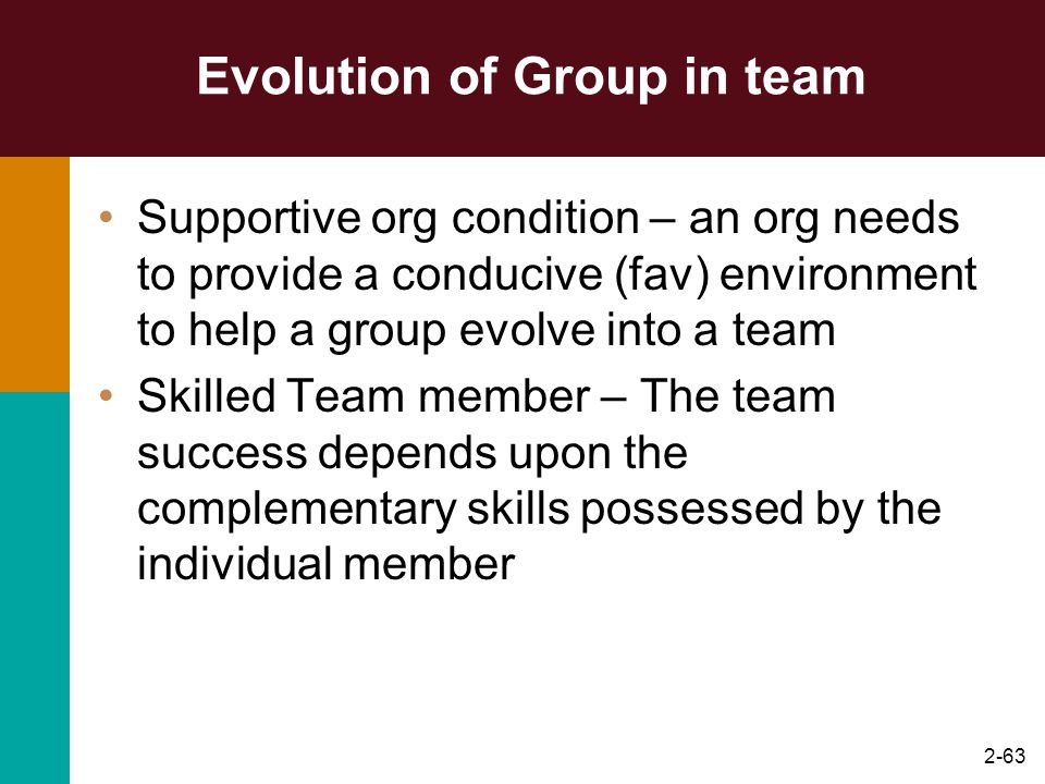 Evolution of Group in team