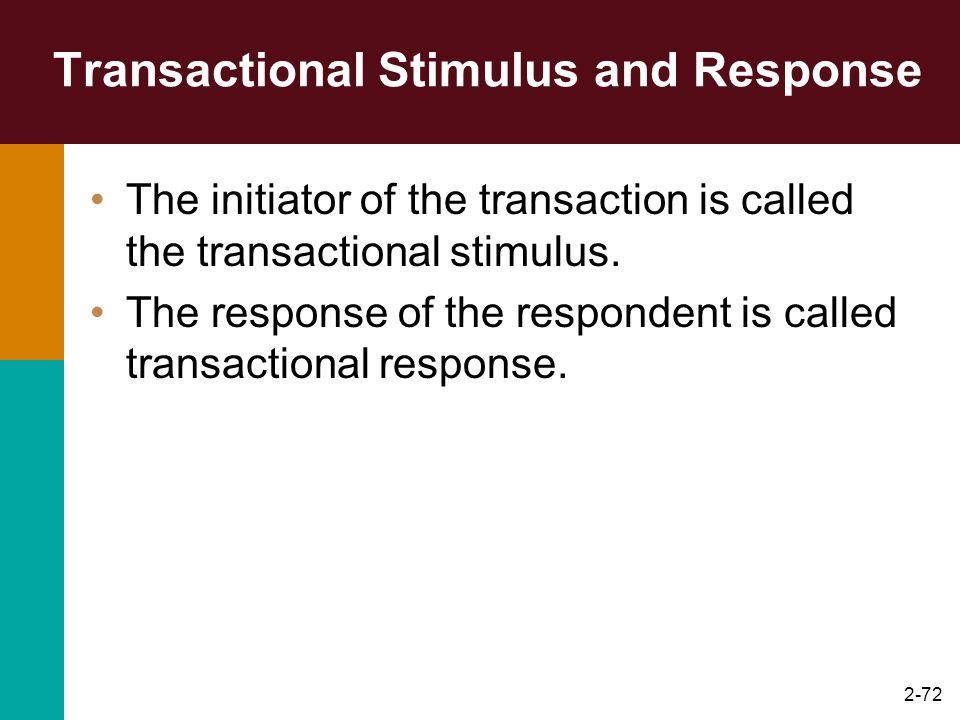 Transactional Stimulus and Response