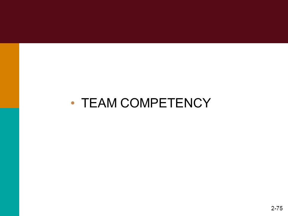 TEAM COMPETENCY