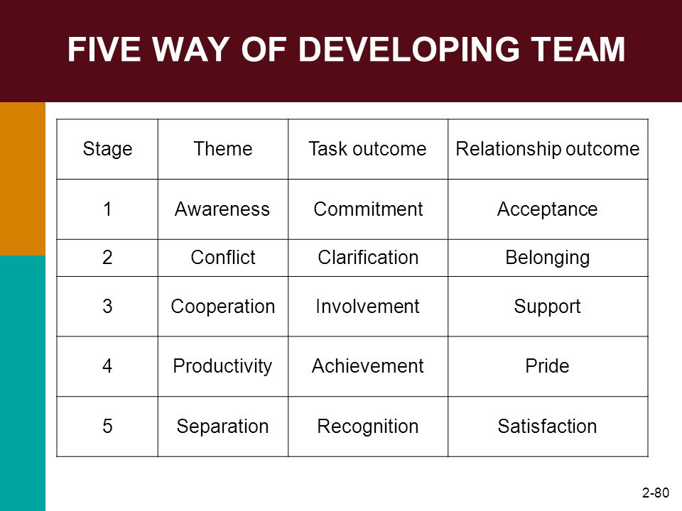 FIVE WAY OF DEVELOPING TEAM