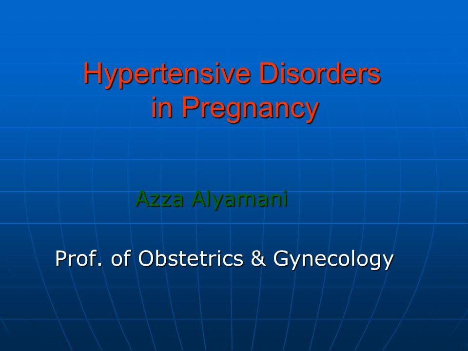 Hypertensive Disorders in Pregnancy