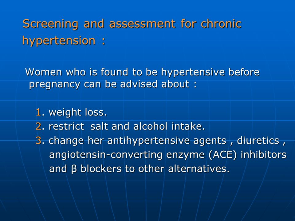 Screening and assessment for chronic