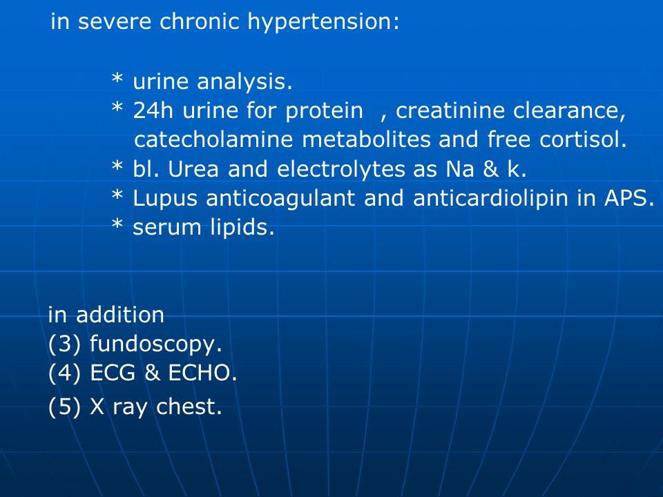 in severe chronic hypertension: