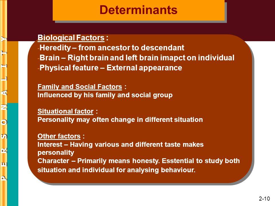 Determinants Biological Factors :