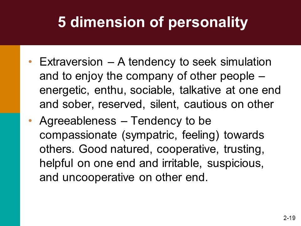 5 dimension of personality