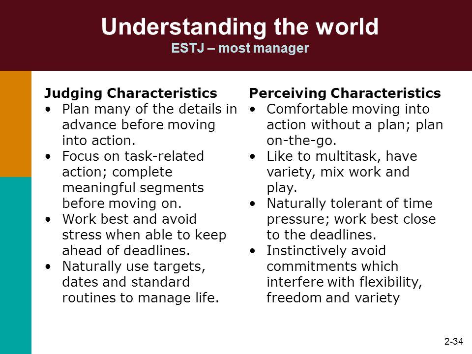 Understanding the world ESTJ – most manager