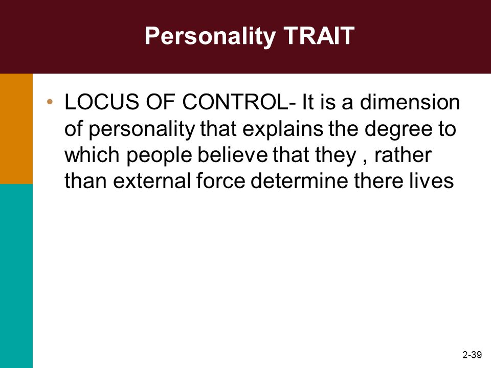 Personality TRAIT
